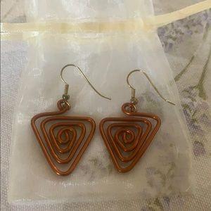Handmade copper wire earrings